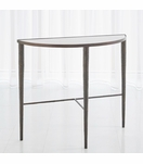 Salka Marble Console Table | Bronze