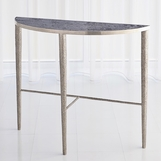 Salka Marble Console Table | Nickel