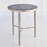 Salka Marble Side Table | Nickel