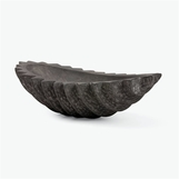 Samara Grand Textured Bowl | Grey