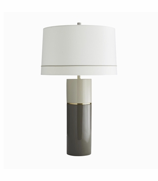 Samuel Taupe Lacquer Table Lamp