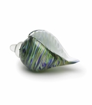 Sanibel Glass Conch Shell | Blue-Green Sparkle