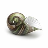 Sanibel Glass Sea Shell | Green Swirl