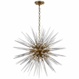 Satellite Large Chandelier | Brass