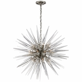 Satellite Large Chandelier | Nickel