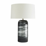 Saturn Grey Glass Table Lamp