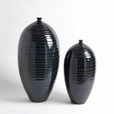Saul Striated Ceramic Vases