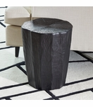 Saxon Ceramic Log Stool | Black