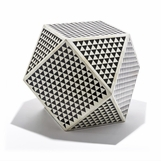 Sealy Geometric Bone Stool