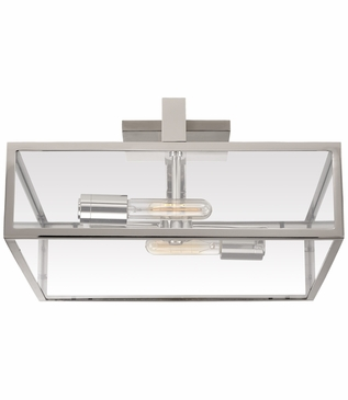 Selby Large Flush Mount | Nickel