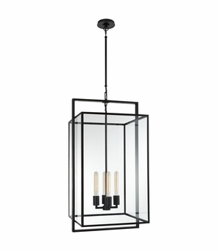 Selby Large Pendant   Iron