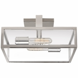 Selby Small Flush Mount | Nickel