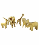 Serengeti Ceramic Animals | Gold