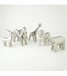Serengeti Ceramic Animals | Silver