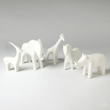 Serengeti Ceramic Animals | White