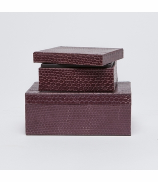 Serpentine Boxes Set | Maroon-Brown