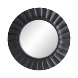 Shelton Wood Round Mirror