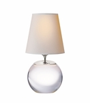 Sherri Round Accent Lamp | Crystal