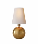 Sherri Tiny Accent Lamp | Brass