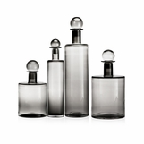 Shiva Glass Bottles | Grey