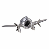 Silver Wings Desk Clock