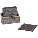 Silvio Leather Coasters Set