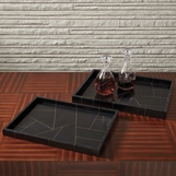 Sinatra Wood Trays | Brass Inlay