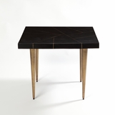 Sinatra Wooden Side Table | Brass Inlay