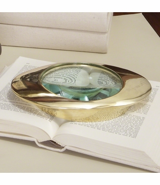 Sleuth Magnifying Glass   Brass