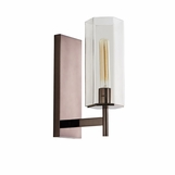 Soliz Sconce | Brown Nickel