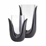 Sonia Glass Vases/Hurricanes | Set of 2