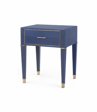 Spano 2-Drawer Side Table | Dark Blue
