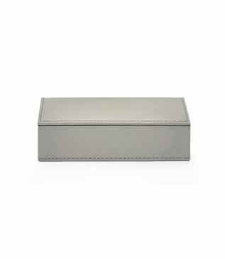 Spano Leather Box | Grey