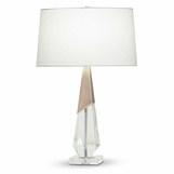 Spengel Crystal Table Lamp | Brass