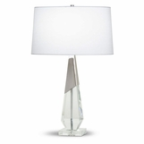 Spengel Crystal Table Lamp | Nickel