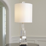 Spire Crystal Lamp | Nickel