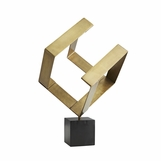 Squaro Brass Sculpture