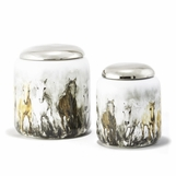 Stampede Porcelain Jar Set
