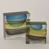 Stratum Art Glass Blocks | Desert