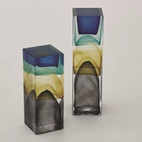 Stratum Art Glass Columns | Desert