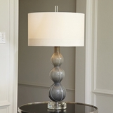 Stratus Glass Lamp | Dark Grey