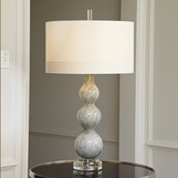 Stratus Glass Lamp | Light Grey