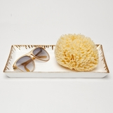Swansea Ceramic Tray | Gold