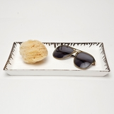 Swansea Ceramic Tray | Silver