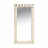 Swanson Scalloped Floor Mirror