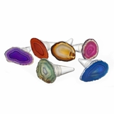 Tambora Agate Bottle Stoppers