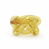 Tangled Glass Knot | Amber