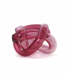 Tangled Glass Knot | Bright Pink