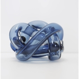 Tangled Glass Knot | Midnight Blue