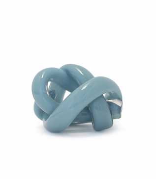 Tangled Glass Knot | Opaque Blue